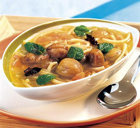 Sopa de castanhas com massa de meada - Receitas – Cozinhar Sem Stress